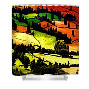 English Summer Fields Shower Curtain