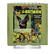 English Toy Terrier Art Canvas Print - Batman Movie Poster Shower Curtain
