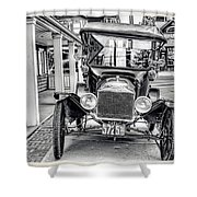 Englishtown New Jersey Antique Classic Car Shower Curtain