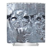 Engrenage De Glace / Iced Gear Shower Curtain