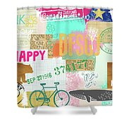 Enjoy Every Moment Collage Shower Curtain
