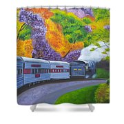 'enjoy Your Journey As Much As Your Destination' Shower Curtain