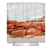 Enjoying The Moment Bay Of Fires Shower Curtain