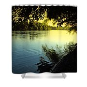 Enjoying The Scenic Beauty Of The Sacramento River Shower Curtain