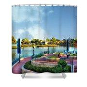 Enjoying The Shade World Showcase Lagoon Walt Disney World Shower Curtain