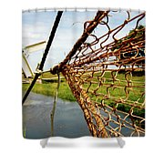 Enkhuizen Windmill And Nets Shower Curtain