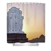 Enlightened Buddha  Shower Curtain