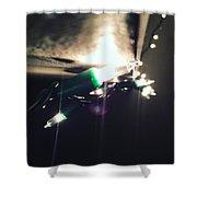 Enlightened Night Shower Curtain