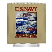 Enlist In The Navy - Help Your Country Shower Curtain