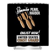 Enlist Now - United States Coast Guard Shower Curtain