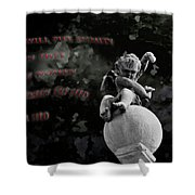 Enmity Shower Curtain