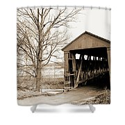 Enochsburg Indiana Covered Bridge Shower Curtain