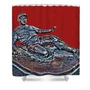 Enos Country Slaughter Statue - Busch Stadium Shower Curtain
