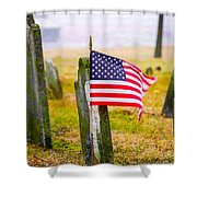 Enriched American Flag - Remember Shower Curtain