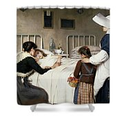 Enrique Paternina Garcia Cid - Mother Visit To The Hospital 1892 Shower Curtain