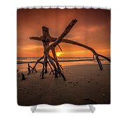 Ensanguing Sky Shower Curtain