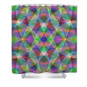 Entangled Curves Three Shower Curtain