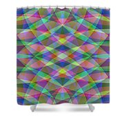 Entangled Curves Two Shower Curtain