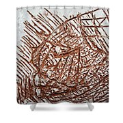 Enter - Tile Shower Curtain