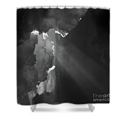 Enter Stage Right Shower Curtain
