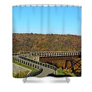 Enter The Kinzua Skywalk Shower Curtain