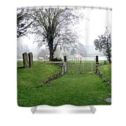 Enter Through The Gates With Singing Shower Curtain