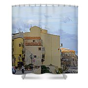 Entering Cefalu In Sicily Shower Curtain