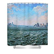 Entering In New York Harbor Shower Curtain
