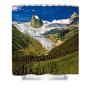 Entering The Bugaboos  Shower Curtain