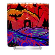 entering the gate of Artemis  Shower Curtain