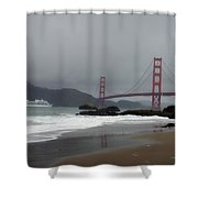 Entering The Golden Gate Shower Curtain