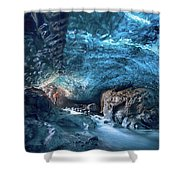 Entering The Ice Cave Shower Curtain
