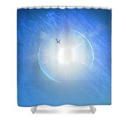 Entering The Solar Dimension Shower Curtain