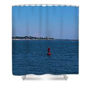 Entering Watch Hill Waters Shower Curtain