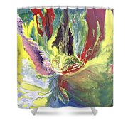 Entity From The Fourth Dimension Shower Curtain