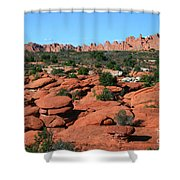 Entrada Sandstone Formations - Arches National Park Shower Curtain