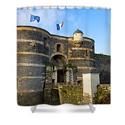 Entrance Gate Of Angers Castle Shower Curtain