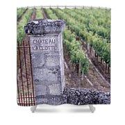Entrance Of A Vineyard, Chateau La Shower Curtain