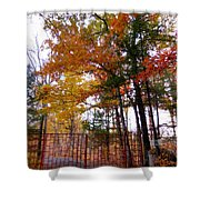 Entrance To A Mahayana Buddhist Temple Shower Curtain