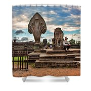 Entrance To Angkor Wat  Shower Curtain