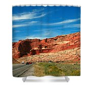 Entrance To Arches National Park Shower Curtain