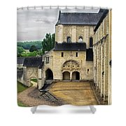 Entrance To Fontevraud Abbey Shower Curtain
