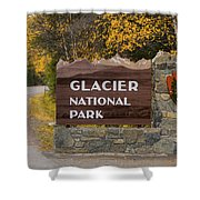 Entrance To Glacier Shower Curtain
