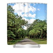 Entrance To Mepkin Abbey Shower Curtain