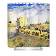 Entrance To Paris With A Horsecar Shower Curtain