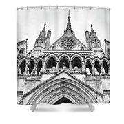 Entrance To Royal Courts Of Justice London Shower Curtain