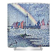 Entrance To The Port Of Honfleur Shower Curtain