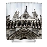 Entrance To The Royal Courts London Shower Curtain