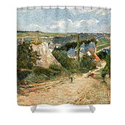 Entrance To The Village Of Osny Shower Curtain
