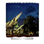 Entrance Wright Patterson Afb Shower Curtain